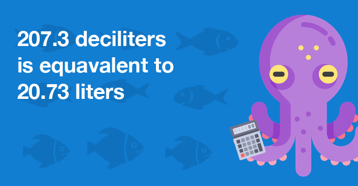 207.3 Deciliters In Liters - How Many Liters Is 207.3 ...