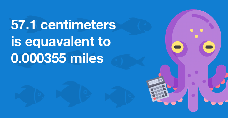 57.1 centimeters is equal to 0.000355 miles